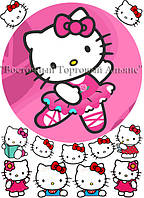 Печать съедобного фото - Ø 21 - Сахарная бумага - Hello Kitty