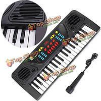 37 клавиш электронная клавиатура пианино музыкальные игрушки подарок ж/микрофонных записей