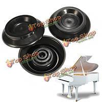 3шт фортепиано МНЛЗ стандартный размер чашки для рояль противоударной противоскользящей