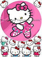 Печать съедобного фото - Ø 21 - Вафельная бумага - Hello Kitty