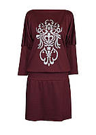 Повседневное женское платье из трикотажа с двойным манжетом  для регулировки длинны.
