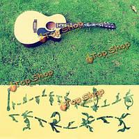 DIY гитары бас декор гриф Наклейка Наклейка растет стиль дерево