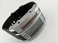 Электронные часы Alberto Kavalli цифровой стиль, стальные, черные, фото 1