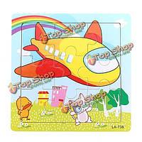 Прикладное деревянные животное головоломки раннего развития ребенка дети развивающие игрушки