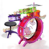 8шт барабанная установка комплектов девушки и юноши Дети детская музыкальная группа инструментом игрушка Playset