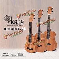 Кака Kuc-25 21/23/26'' Африканский красного дерева матовой укулеле