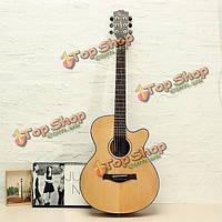 Amari ам-4088c 40-дюймов вырезом ель твердое верхней народной акустическая гитара с концерта мешок