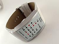 Бинарные часы Alberto Kavalli цифровой стиль, стальные