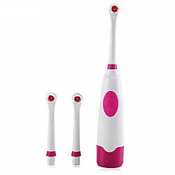 Электрическая зубная щетка, 3 сменные насадки!!! Одна для всей семьи!