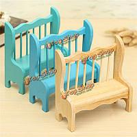 Куклы дом миниатюрная мебель садовая деревянная скамейка в парке