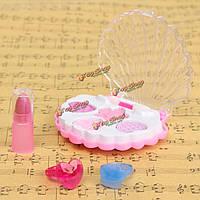 DIY смешные макияж игрушки косметика тени для век помада коробка кольца