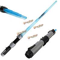 Световой световой меч телескопический меч легкий звук игрушки косплей