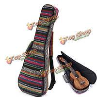 Мягкая накладка хлопок народном стиле рука покрытие портативный сумка для 23 дюймового укулеле