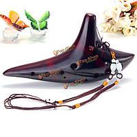 12 отверстий Ocarina альт С тлеющие керамическая форма подводной лодки флейта новый