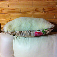 Подушка 70х50 см (ткань бязь+мех).Наполнитель овечья шерсть.