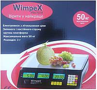 Торговые электронные весы, Электровесы со счетчиком цены Wimpex WX 50 kg 4v (2gm), фото 1