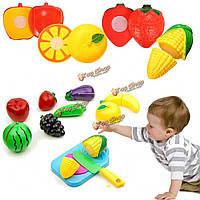 Резки фруктов ящик с ножом делать вид, игра магазин игрушек пищевых