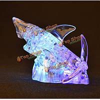 3D 40шт освещение акула кристаллических блоков головоломки  чтобы держать блоки