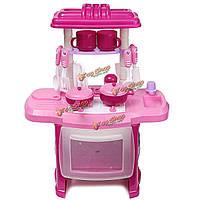 Дети, набор столовых приборов кухня приготовления роль играют вид, игрушка