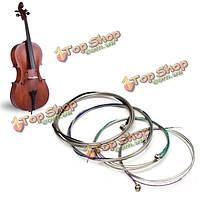 Набор виолончели струны cgda немецкий серебряный сплав музыкальный инструмент аксессуары