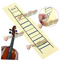 Скрипка гриф наклейка лента скрипка гриф график палец маркер для скрипки 4/4