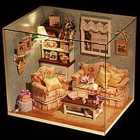 Кукольный домик миниатюрный DIY Kit счастливое время номер с крышкой