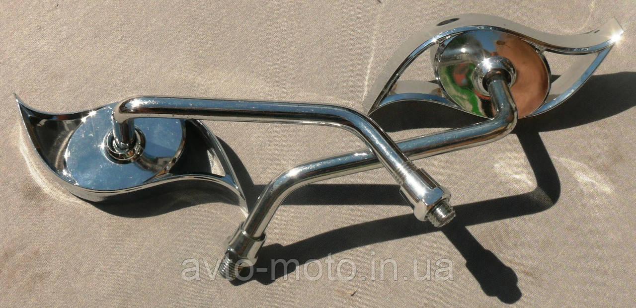Зеркало металлические хромированные №3