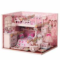 Миниатюрный комплект diy деревянный кукольный домик cuteroom с мебель Кукольный дом номер Ангел мечты