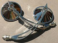 Зеркало круглые металлические хромированные  №4