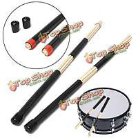 Профессиональные деревянные палочки барабанные стержней резиновой ручкой щетки Барабанные палочки
