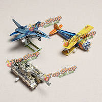 Hopewinning Military Series 3шт/Set 3D Puzzle Wind-Up Toys HWMP-2301-1/2/3