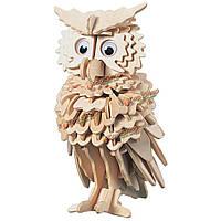 3D деревянные совы головоломки дети дети игрушки предварительно разрезать деревянную модель фигур