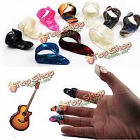 Гитара пластиковые ногтей выбирает плектры 3 пальца выборы + 1 палец выбирает плектры