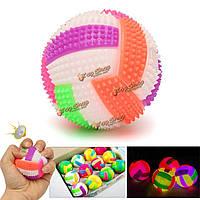 1шт мигающие пу резиновый избавления от стресса выжать звука мяч игрушка для ребенка