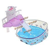 Водопад фантазии бассейн для куклы аксессуары комплект игрушки