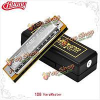 Huang 108 10 отверстий блюз Гармоника ключ C