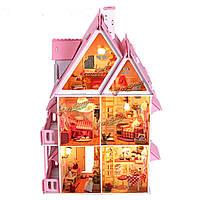Ийэ создать поделки дом мечты дерева с легкой и миниатюрной мебелью большая вилла