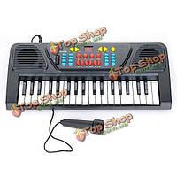 37 ключевых электронная клавиатура пианино музыкальная игрушка микрофонные записи для детей