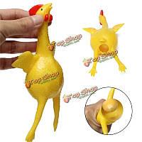 17см резиновая кладка набрался лысого курица сжимающую мяч питчер игрушку снимающий напряжение