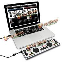 Иона dj2go ультра-портативный USB DJ оборудование контроллер микшер для Mac или ПК