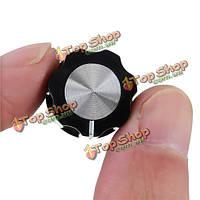 Гитара мини ручки педаль эффект 6мм черный ж / серебряную ручку крышки для босса педалей