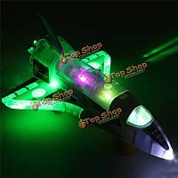 Космический челнок вспышка музыки свет LED электрические игрушки ракеты подарок малышей