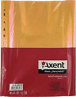 """Файл """"Axent"""" 2004-25-A A4+ 40мкм помаранчевий (за100шт)"""