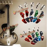 15шт нержавеющей стали целлулоида палец палец гитара выбирает медиатором случай