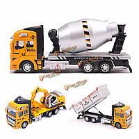 Дети модель Откат грузовики экскаватор экскаватор строительство транспортных средств фургоны игрушка