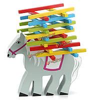 Деревянные развивающие лошадь баланс игры пучка