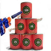 6шт ева мягкая мишень пистолет пуля стрелять дротик для нерф н-страйк элита бластерного игрушки малыша