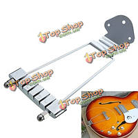 Хром 6 струнная гитара хвостовую трапеции открытая рамка для Archtop гитары