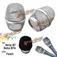 Головка микрофона сети сетки крышки микрофонный замена решетки для бета-87 бета-87а