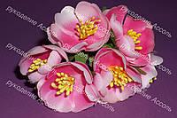 Декоративные цветы пиона в розовых тонах 3.5-4см уп/3 цветка